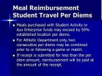 meal reimbursement student travel per diems20