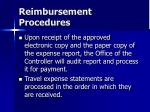 reimbursement procedures47