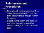reimbursement procedures48