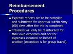 reimbursement procedures49