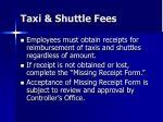 taxi shuttle fees