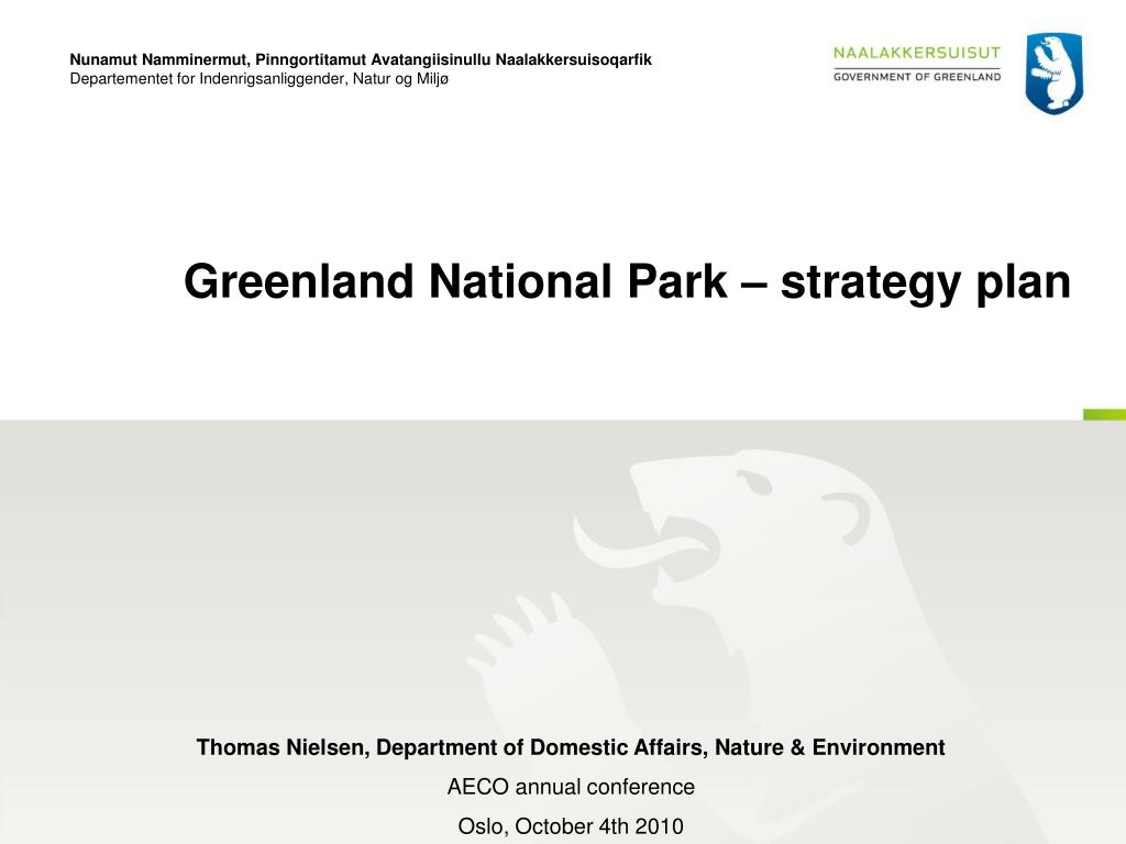 greenland national park strategy plan l.