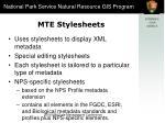 mte stylesheets
