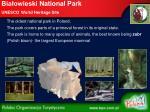 bia owieski national park unesco world heritage site