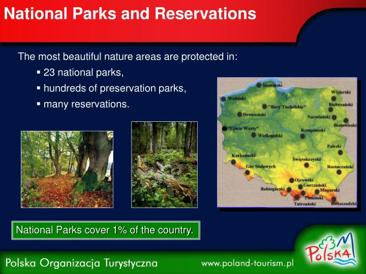 National parks and reservations