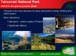 tatrza ski national park unesco biosphere preserve mab