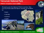 tatrza ski national park unesco biosphere reserve mab