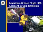 american airlines flight 965 accident in cali colombia