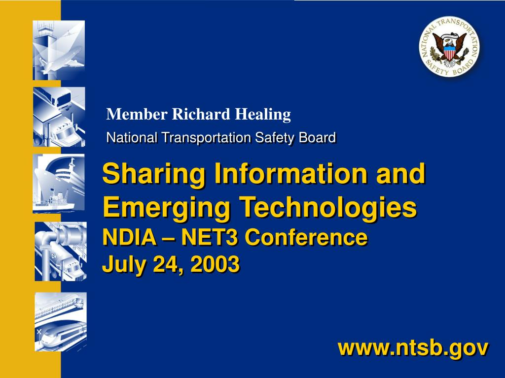 sharing information and emerging technologies ndia net3 conference july 24 2003 l.