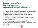 exmoor national park http www exmoor nationalpark gov uk traditional htm