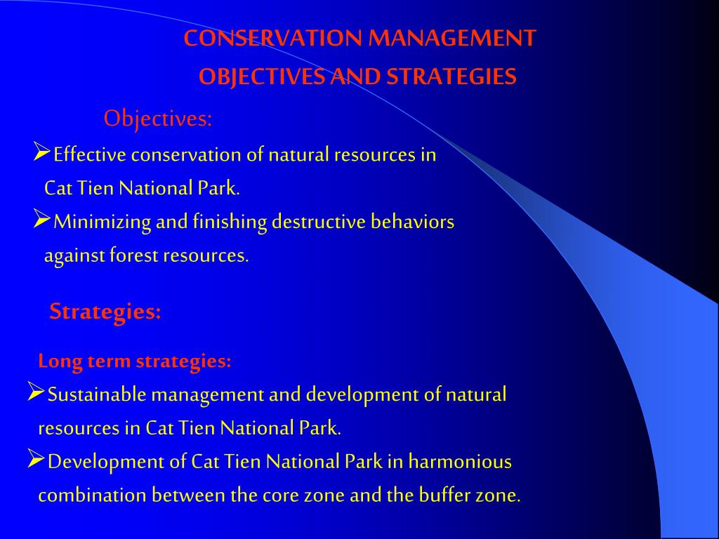 CONSERVATION MANAGEMENT