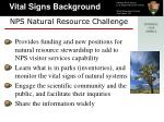 nps natural resource challenge