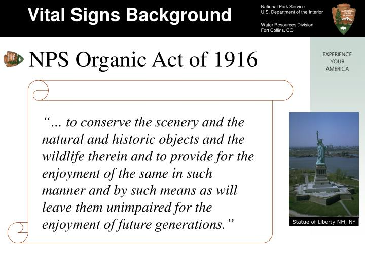 """""""… to conserve the scenery and the natural and historic objects and the wildlife therein and to ..."""