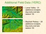 additional field data yerc