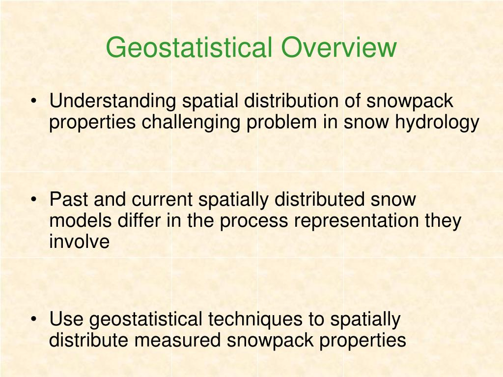 Geostatistical Overview