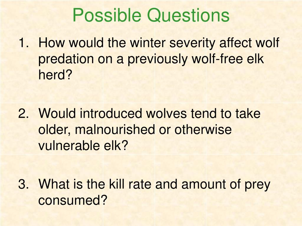 Possible Questions