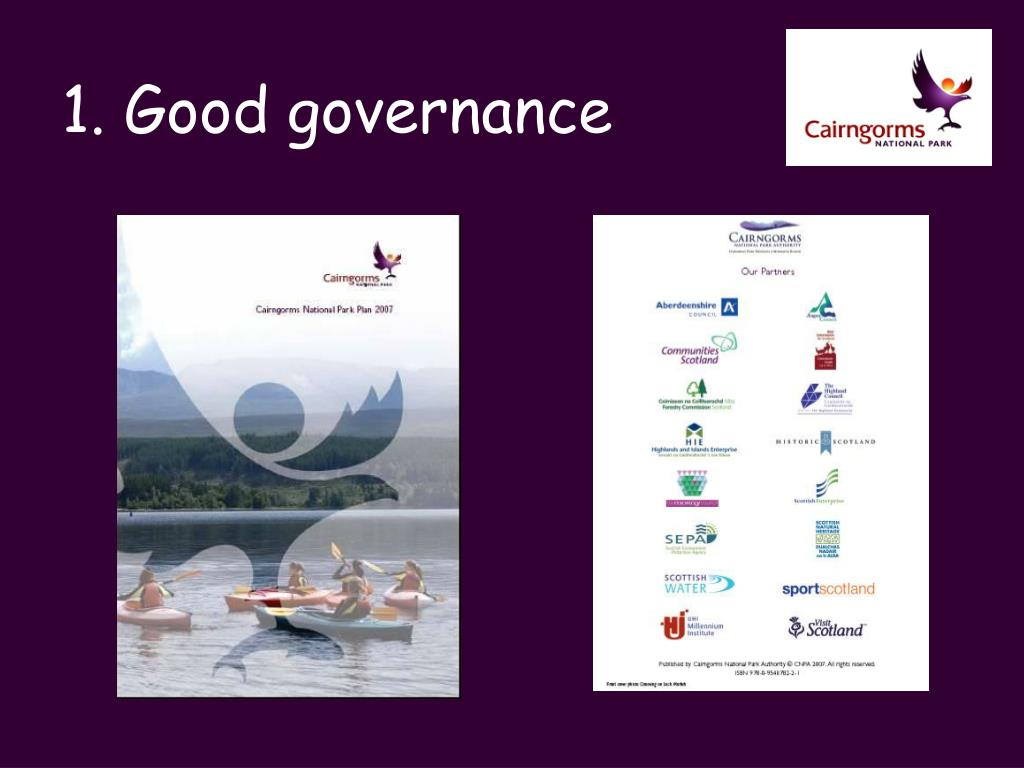 1. Good governance