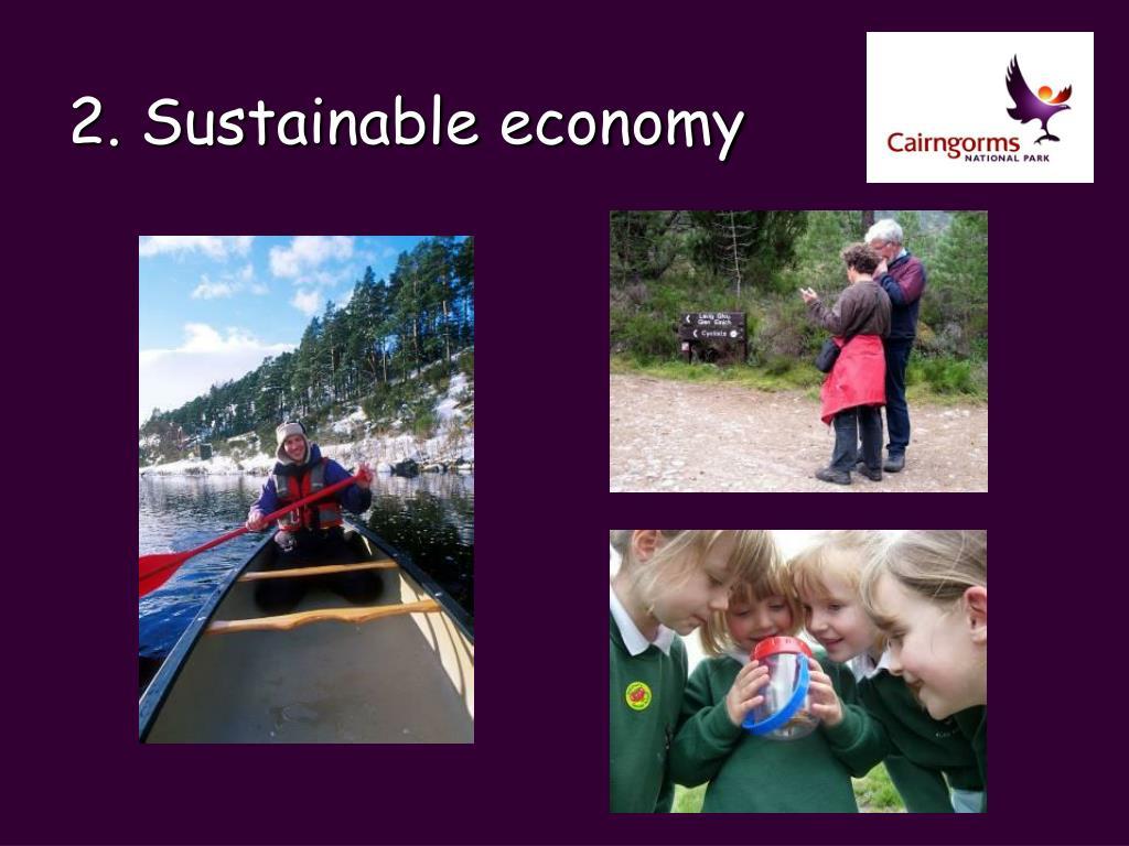 2. Sustainable economy