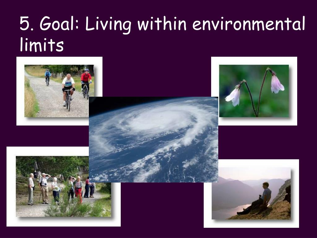 5. Goal: Living within environmental limits