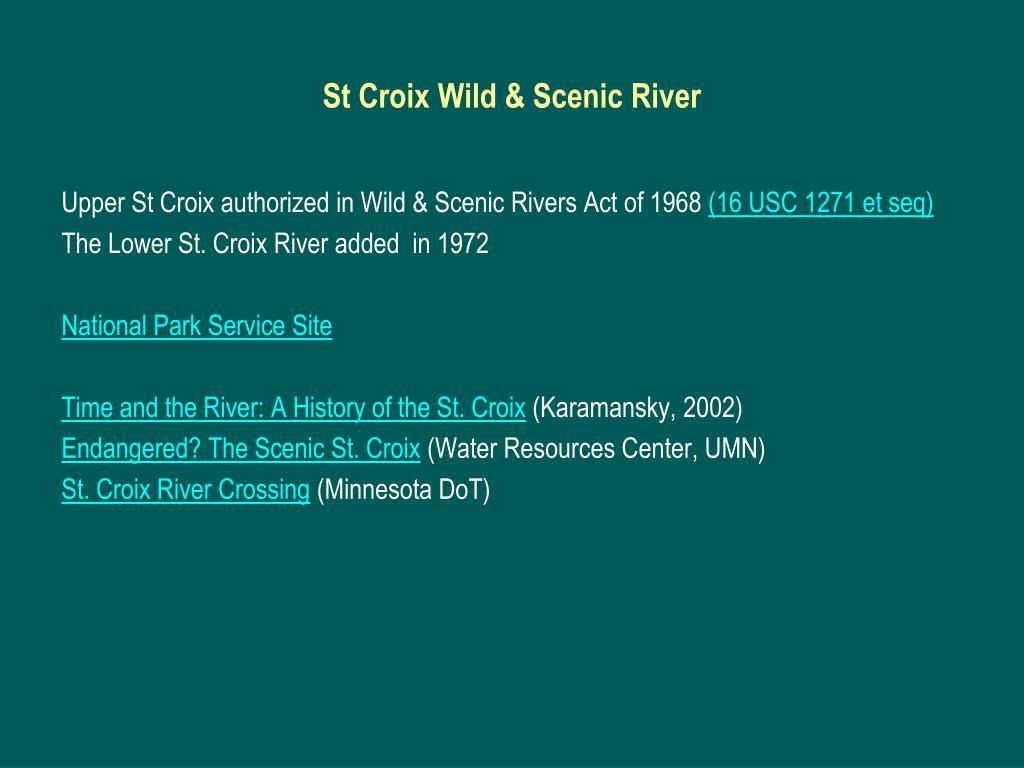 St Croix Wild & Scenic River