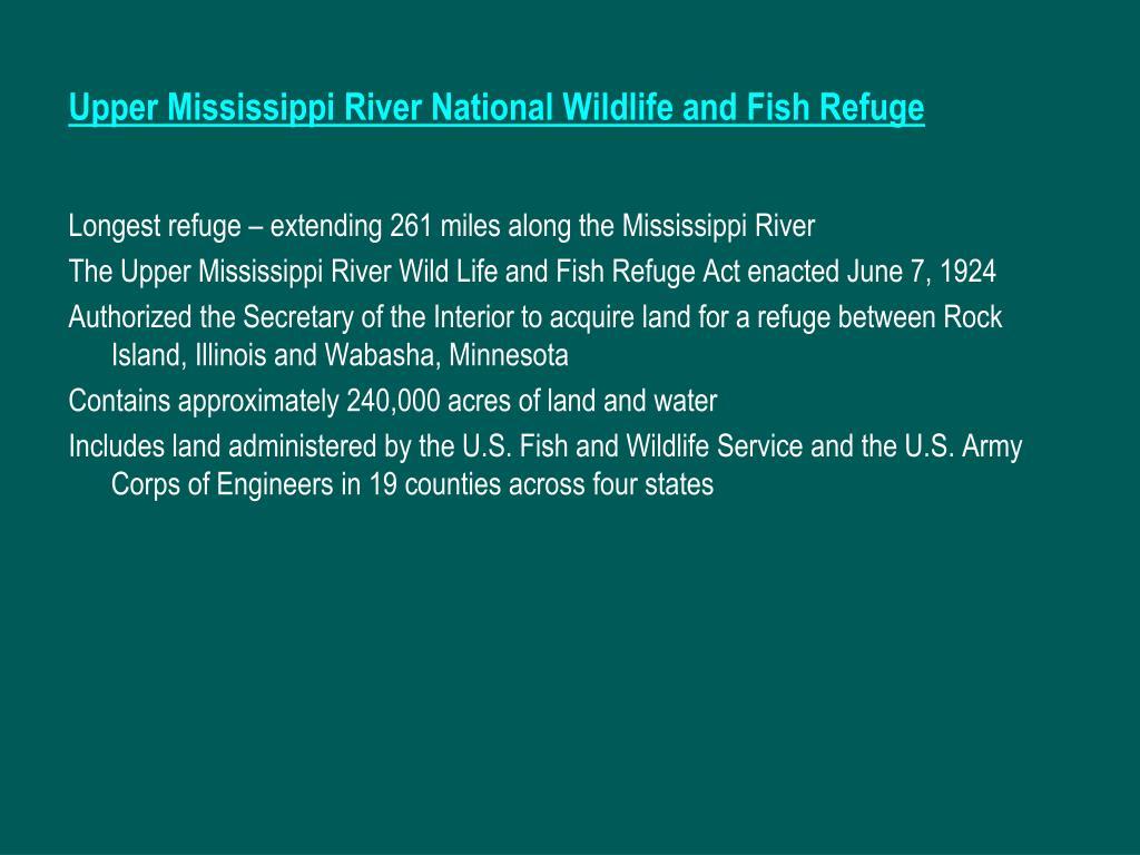 Upper Mississippi River National Wildlife and Fish Refuge