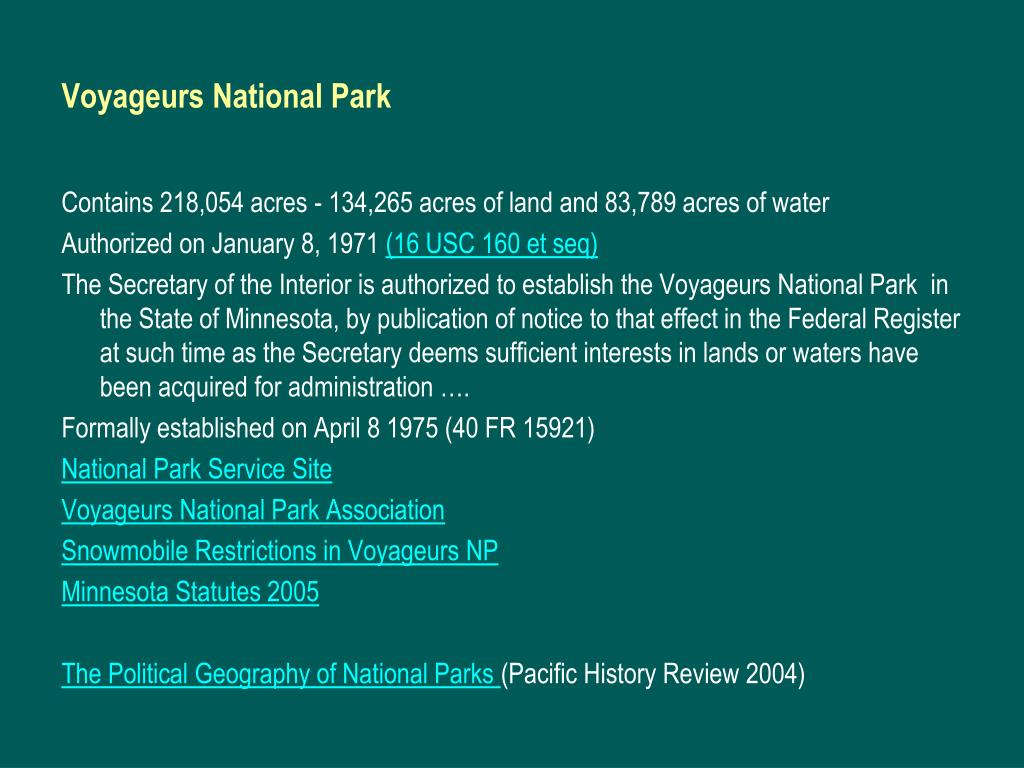Voyageurs National Park