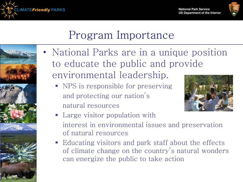 Program Importance