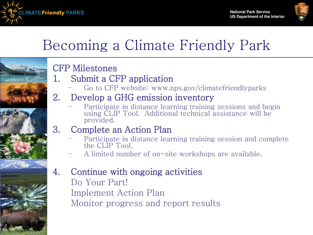 Becoming a Climate Friendly Park