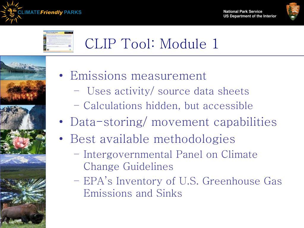CLIP Tool: Module 1