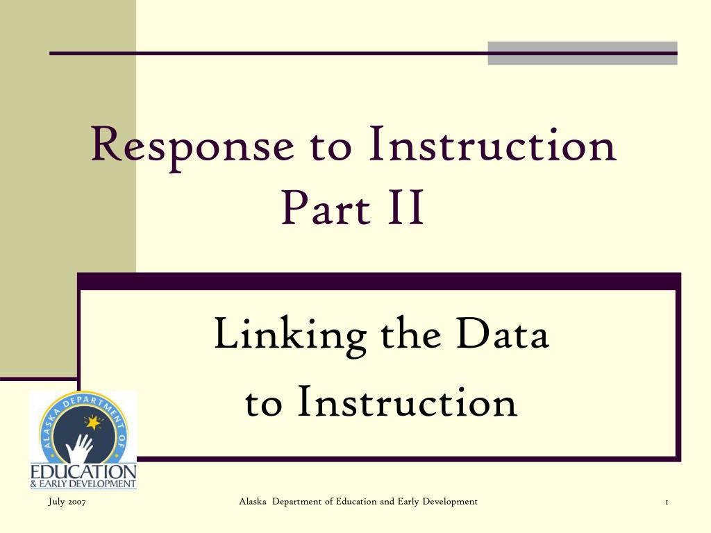 response to instruction part ii l.