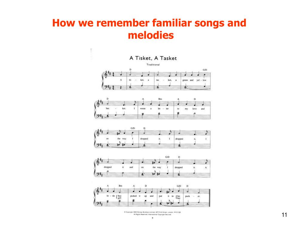 How we remember familiar songs and