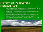 history of yellowstone national park9