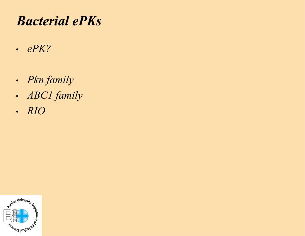 Bacterial ePKs