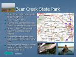bear creek state park