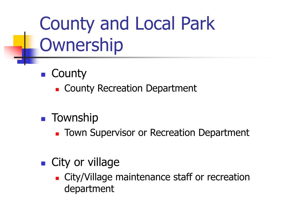 County and Local Park Ownership