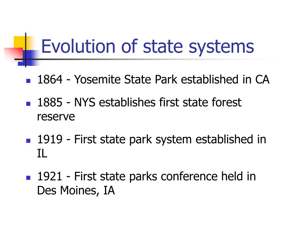 Evolution of state systems