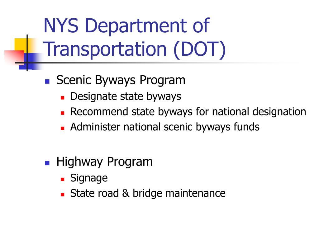 NYS Department of Transportation (DOT)
