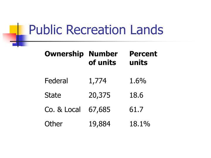 Public recreation lands3
