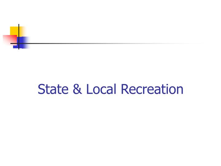State local recreation