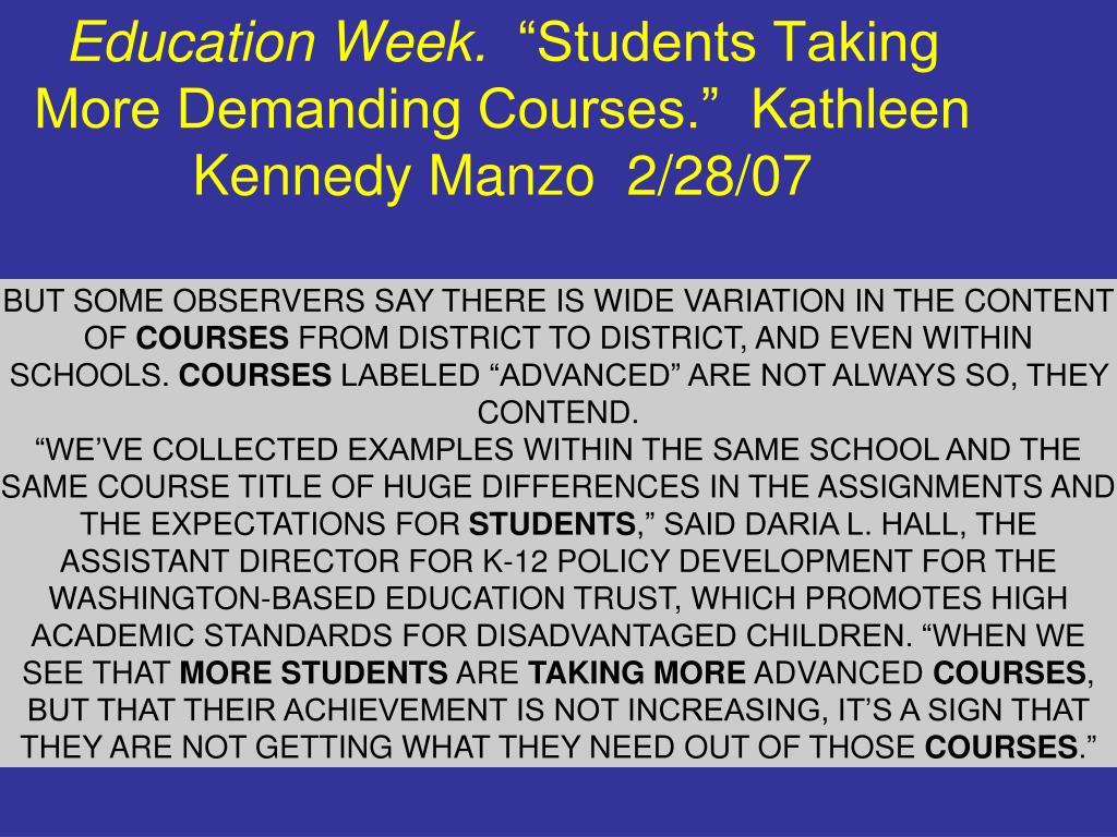 Education Week.