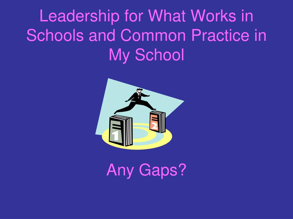 Leadership for What Works in Schools and Common Practice in My School