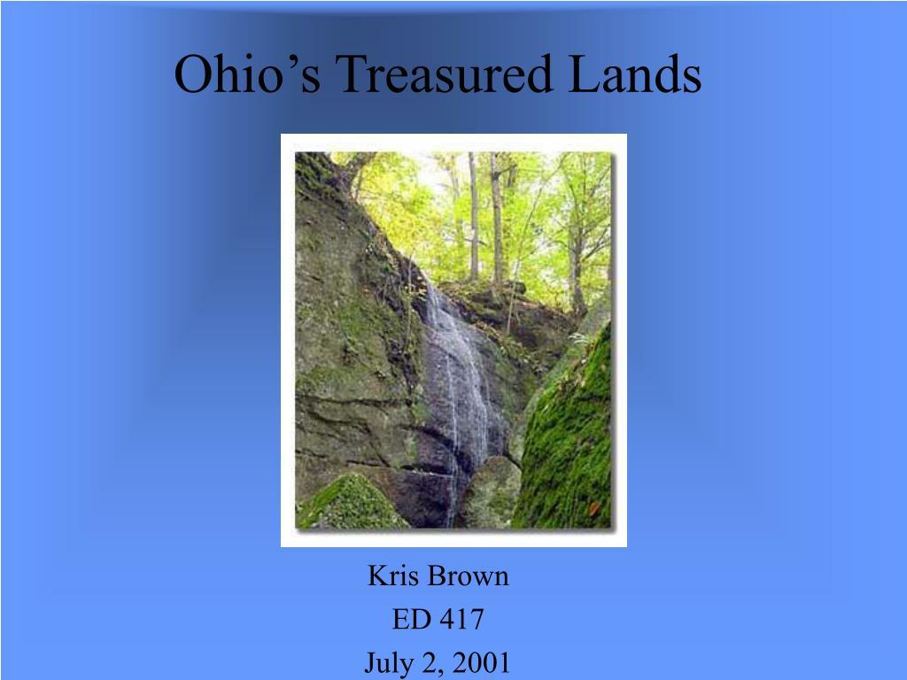 ohio s treasured lands l.