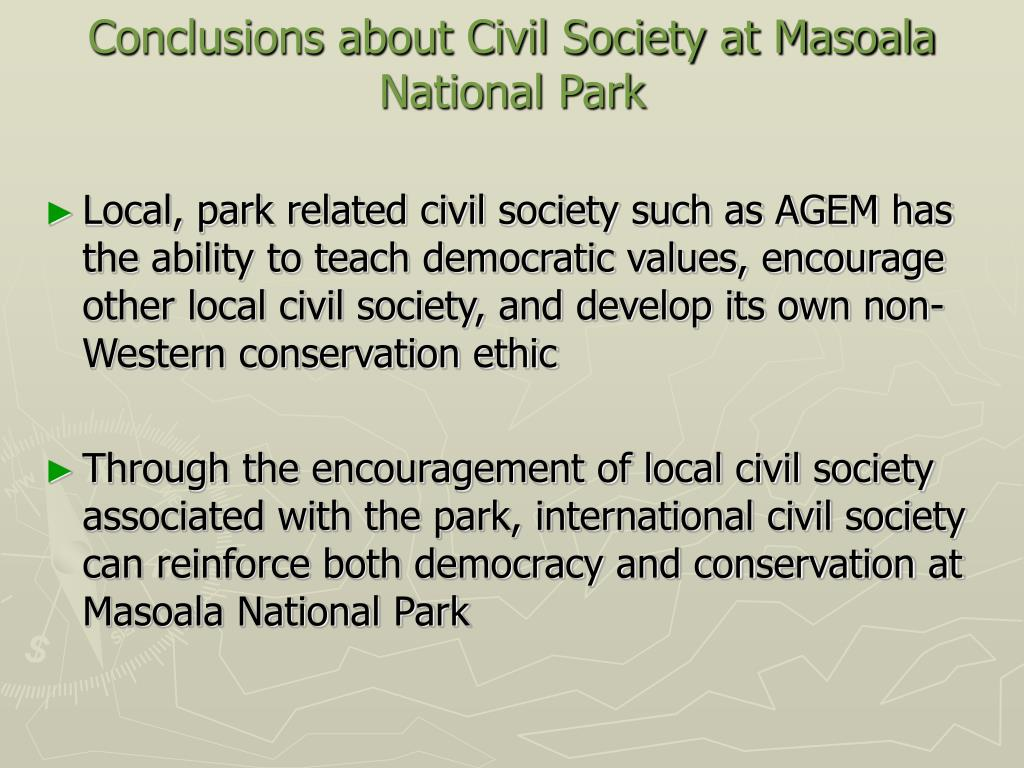 Conclusions about Civil Society at Masoala National Park