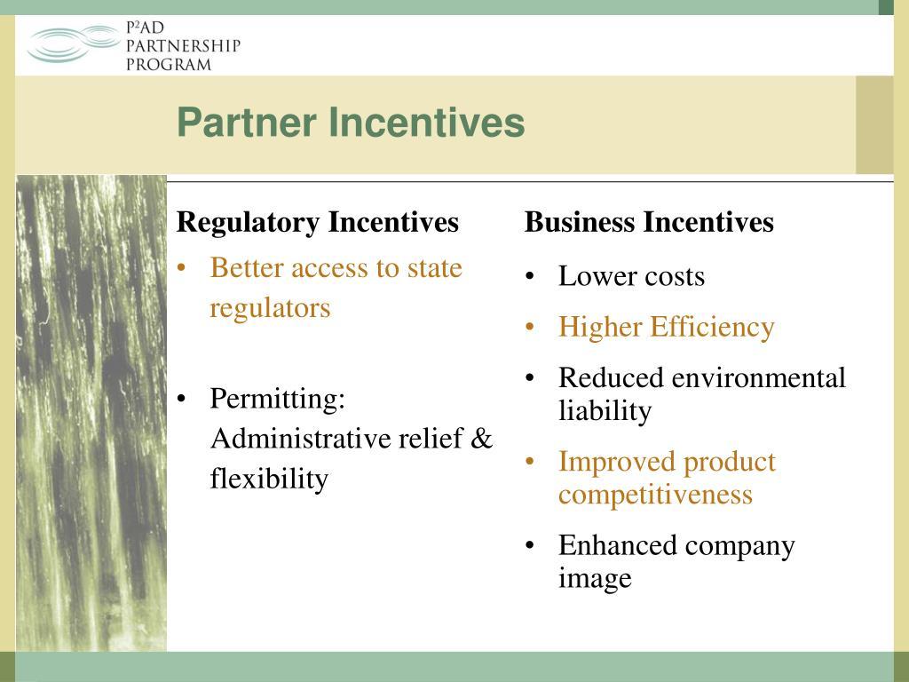 Regulatory Incentives