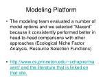 modeling platform