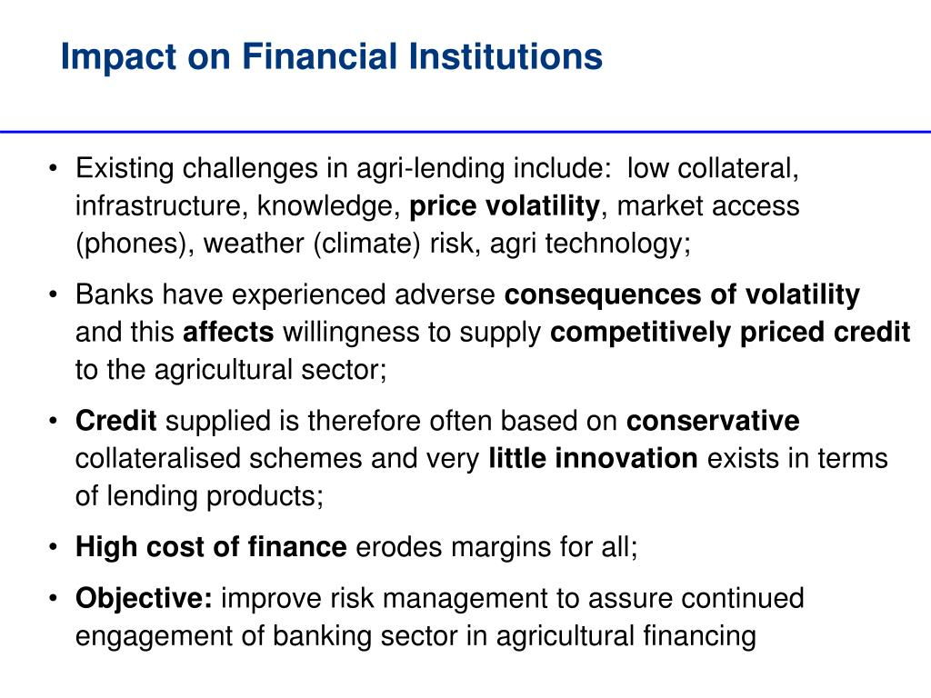 Impact on Financial Institutions