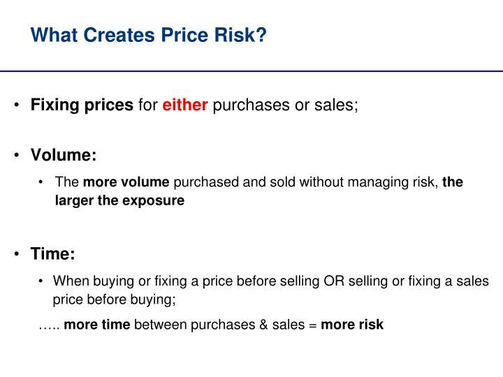 What creates price risk