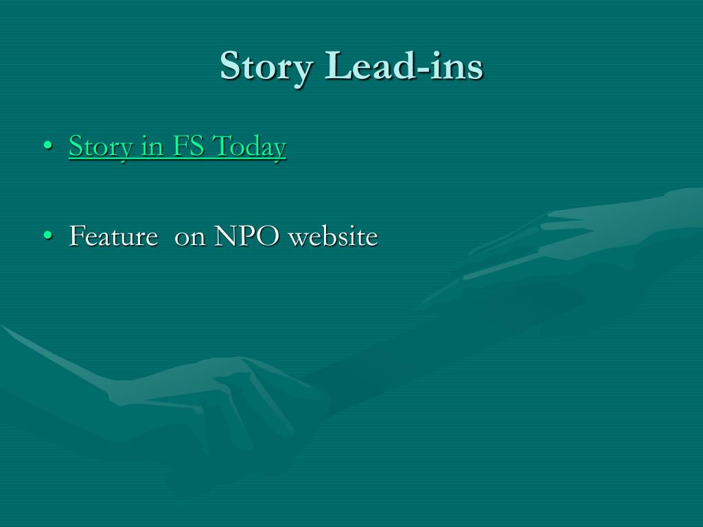 Story Lead-ins