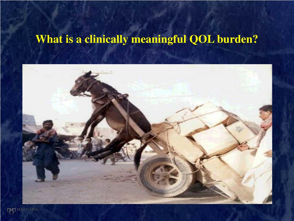 What is a clinically meaningful QOL burden?