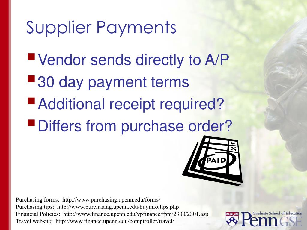 Supplier Payments